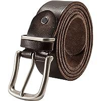 SOVARCATE Cintura Uomo con Fibbia Regolabile, Pelle Pieno Fiore Stile Vintage Durevole Tipo Cintura di Pelle (Realizzato in Pelle Genuino)