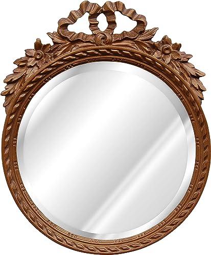 Hickory Manor House 6212BZ Round W Bow Bevel Mirror Bronze