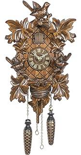 squirrel TU 363 Q Item No. bird 51-TR Trenkle Quartz Cuckoo Clock 5 leaves