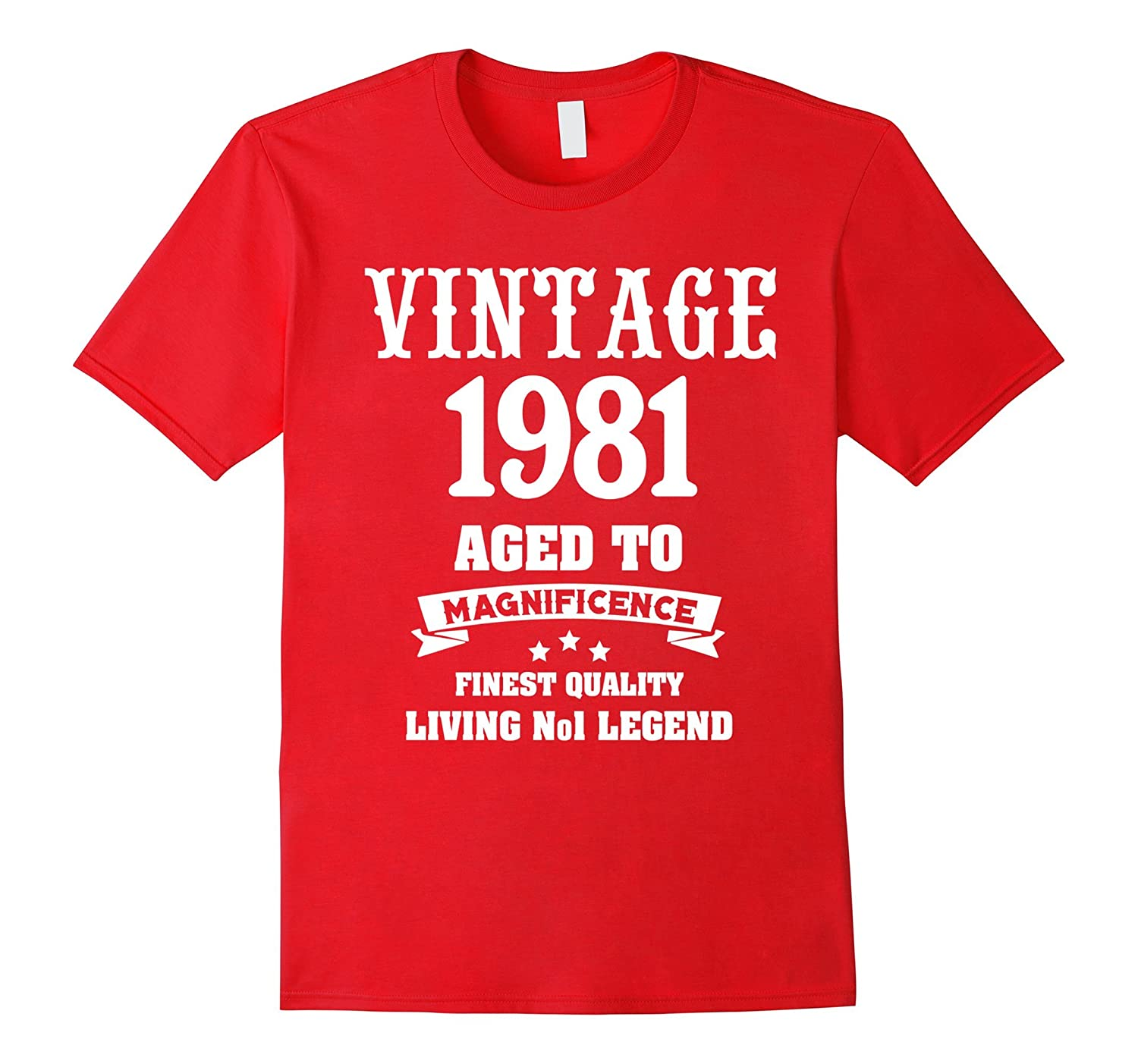 Vintage 1981 Shirt Funny 36 Years Old 36th Birthday Gift-ANZ