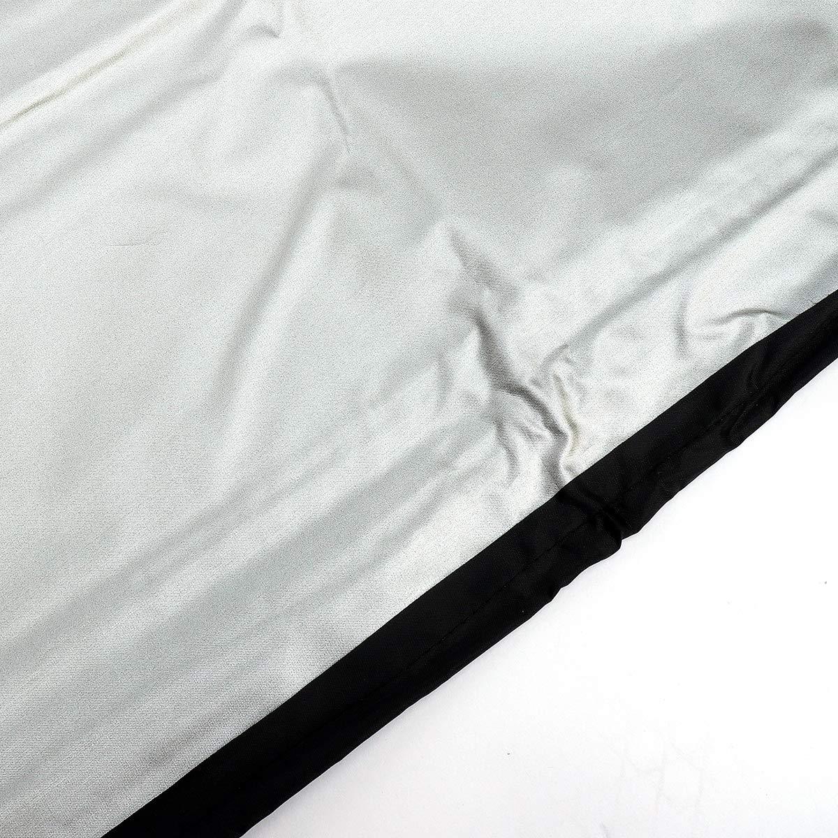 dDanke da giardino in poliestere impermeabile antipolvere per esterni a forma di L divano mobili copertura nero