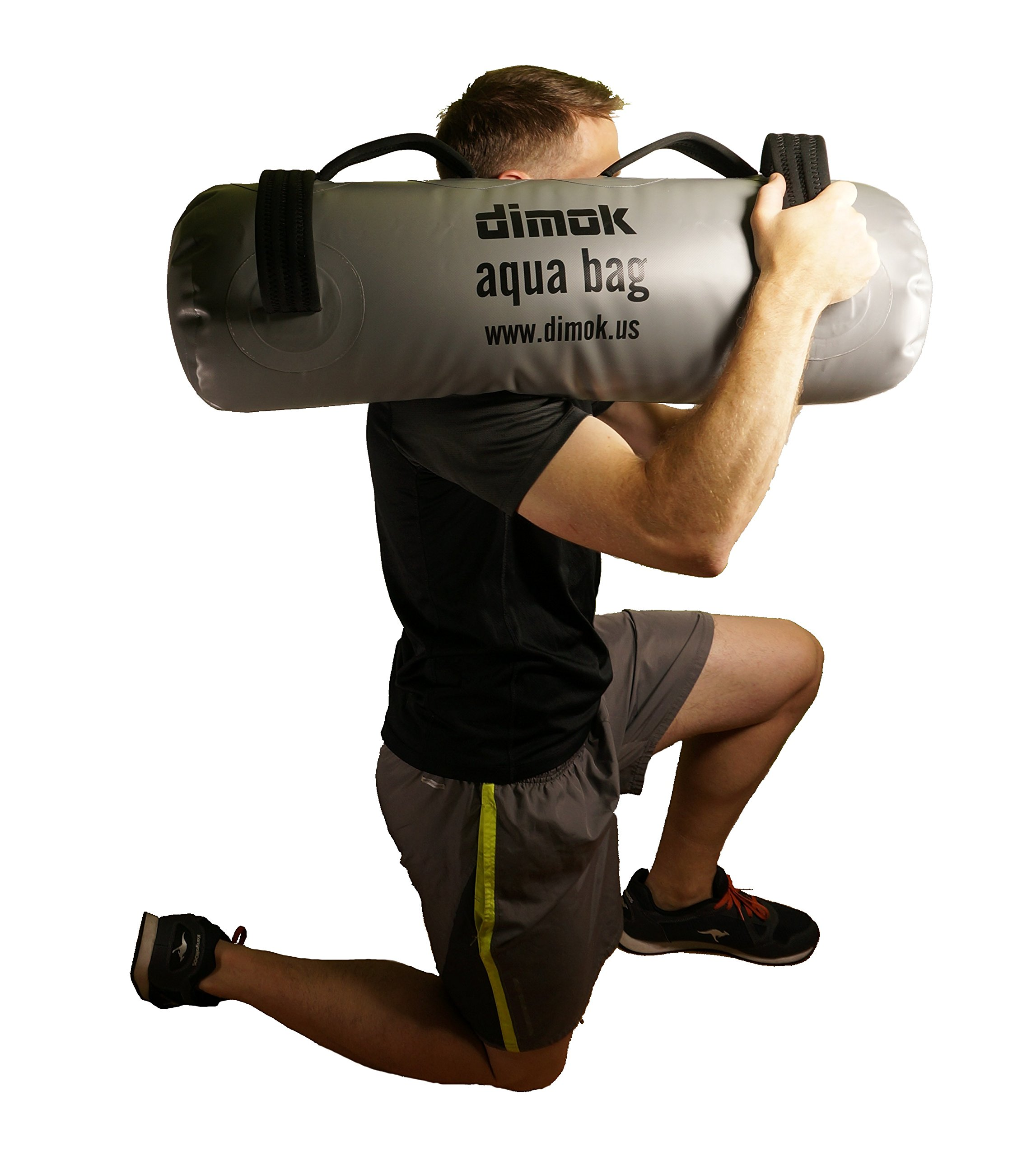 dimok Sandbag Alternative Aqua Bag Training Weight Bag - Adjustable Weights Portable Full Body Workout - Comes with a Foot Pump (79)