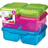 Sistema Lunch Collection Multi Piece Food Storage Containers, Assorted Colors, Set of 6