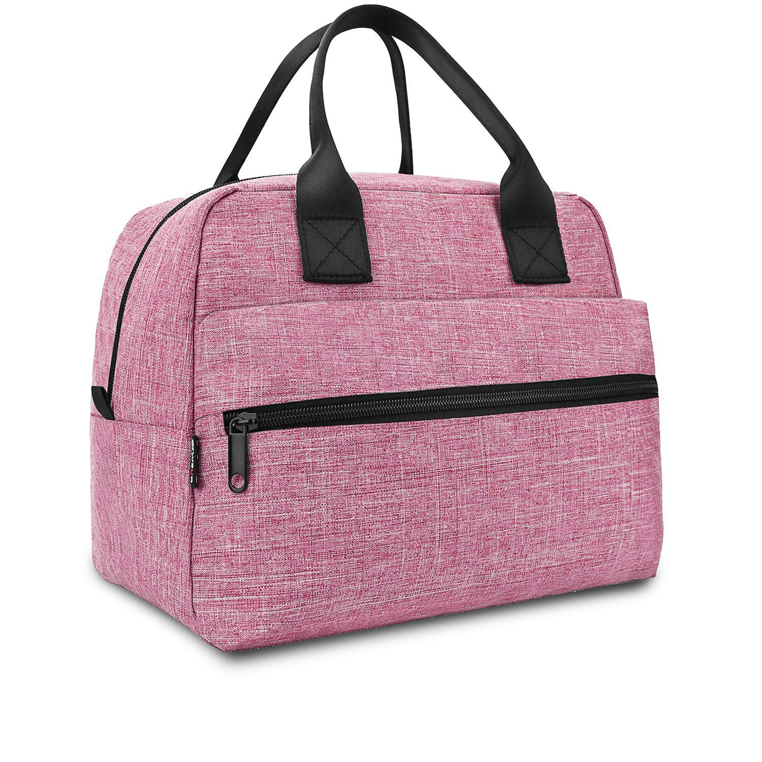 Lunch Bag for Men & Women Insulated Lunch Bags Large Box for Work Adult Reusable Lunch boxes Cooler Tote (Pink)