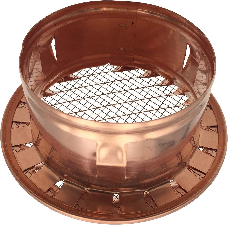 avec filet grille de ventilation avec embout rond haute qualit/é dimensions vari/ées Grille d/'a/ération en cuivre