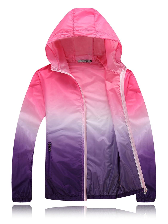 InMoo Unisex Skin Coat Anti UV Water Resistant Lightweight Outdoor Hoodie Cycling Running Windbreaker Jacket