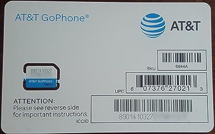 Amazon.com: Tarjeta SIM AT&T, compatible con el servicio ...
