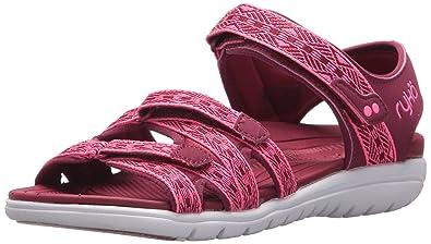 Ryka Women's Savannah Sport Sandal, Beet Red/Hyper Pink, 9.5 M US