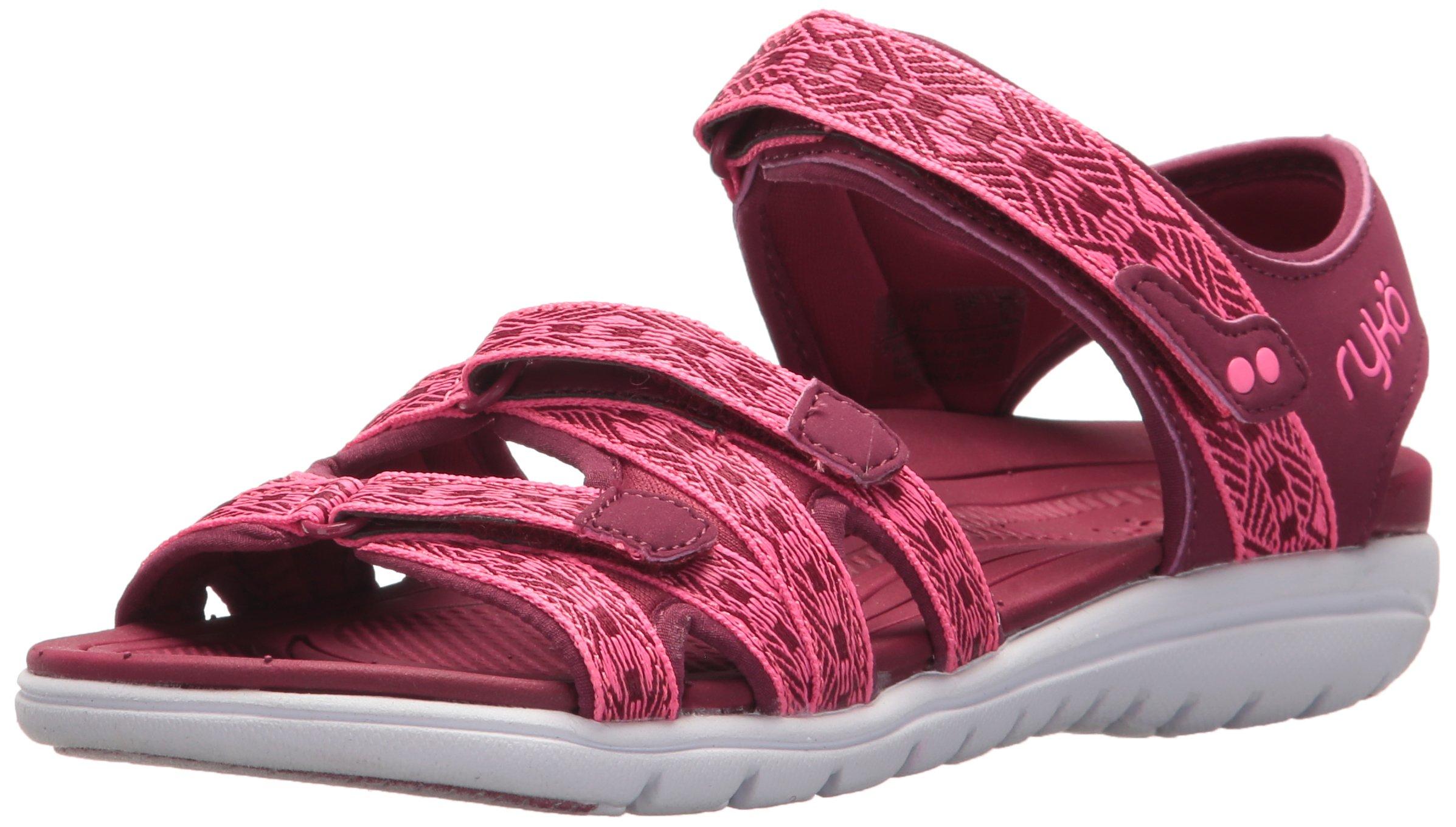 Ryka Women's Savannah Sport Sandal, Beet Red/Hyper Pink, 9.5 W US
