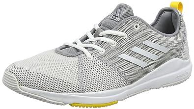 adidas Arianna Cloudfoam, Chaussures de Fitness Femme, Gris (Grey One/Silver Metallic/EQT Yellow), 38 EU