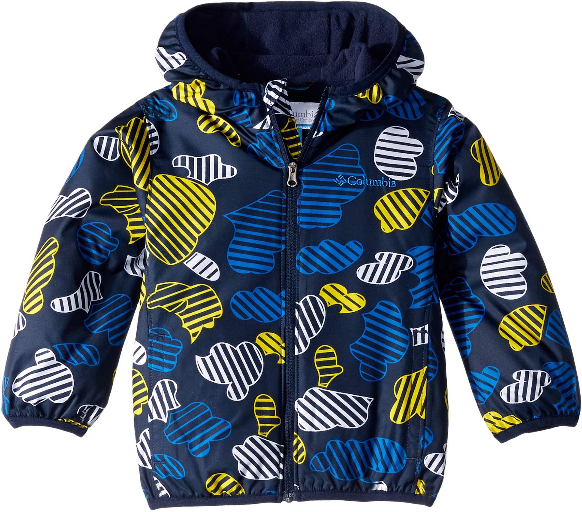 Columbia Kids Baby Boy's Mini Pixel Grabber¿ II Wind Jacket (Infant/Toddler) Collegiate Navy Cloudy Camo 12-18 Months