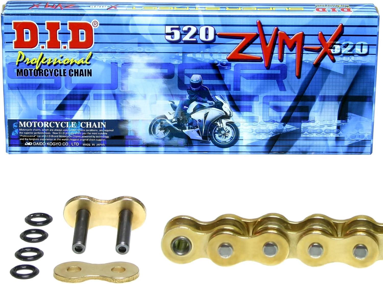 super verst/ärkt Kettensatz f/ür Kawasaki ZR-7 ZVM-X gold DID X-Ring Typ ZR750F 1999-2004