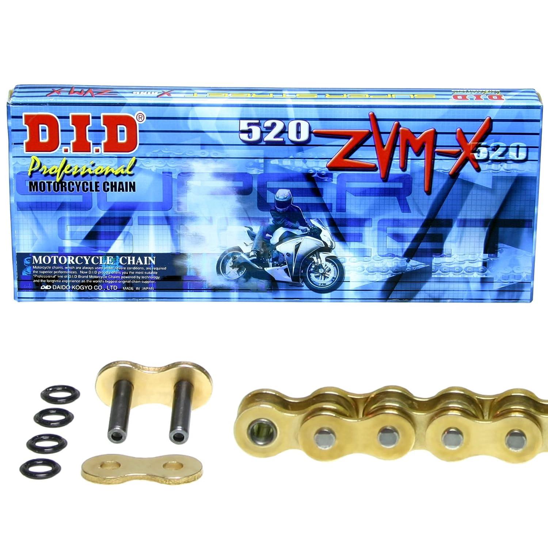 ZVM-X gold Kettensatz f/ür Kawasaki ZX-10R super verst/ärkt 2008-2010 DID X-Ring Typ ZXT00E ZXT00F