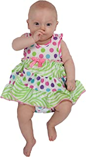 product image for Laura Dare Baby Girls Gumballs Frilly Itsy Bitsy Jumpsuit Onesie
