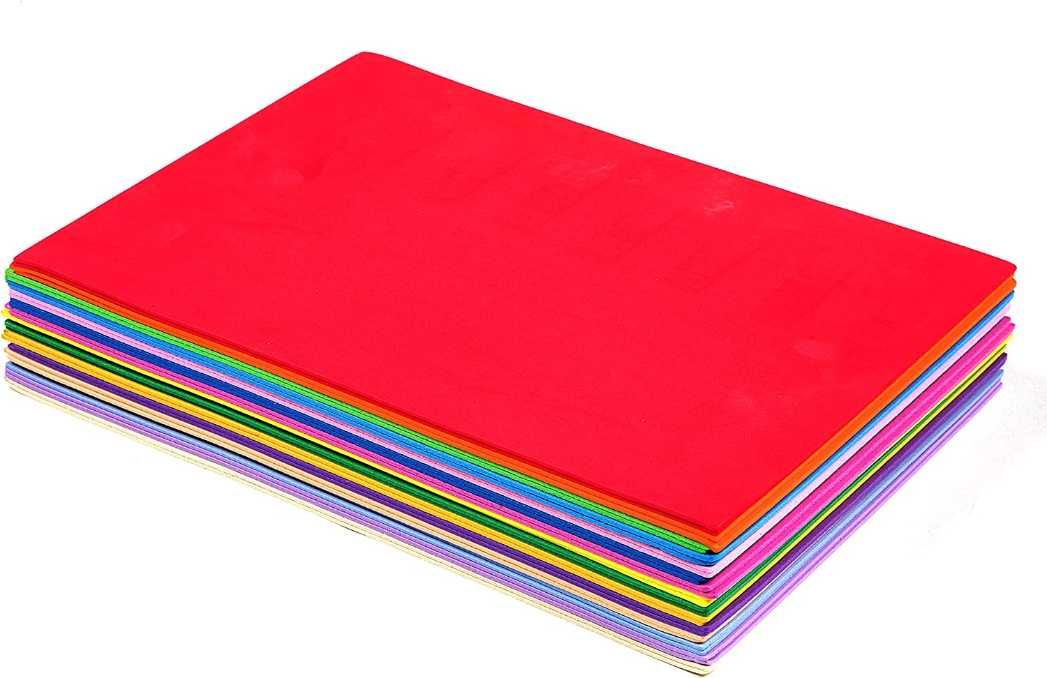 """10 X FUNKY ART /& CRAFT FOAM SHEETS COLOURS-19/"""" X 19/"""" THICKNESS 1 mm 10 COLOUR"""