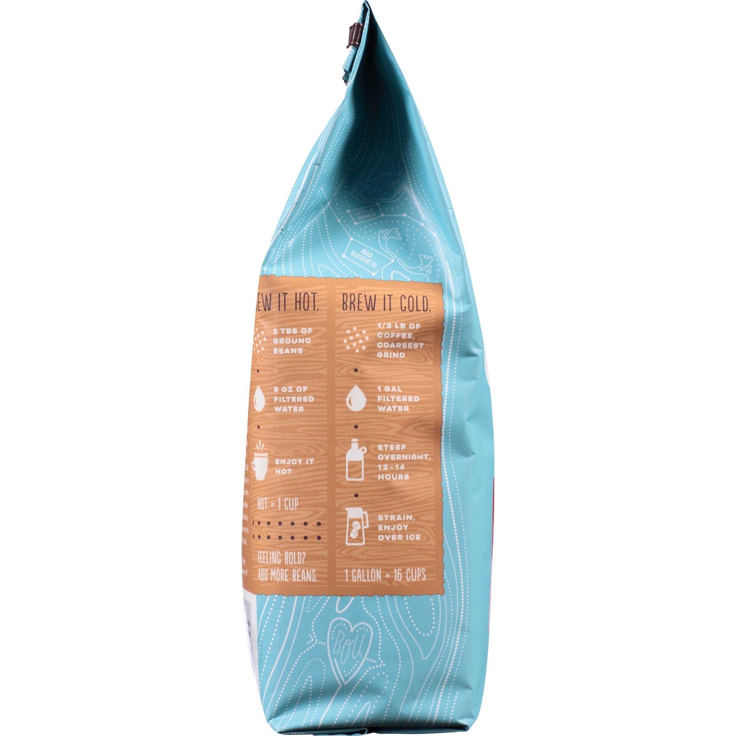 Caribou Coffee, Mahogany Dark Roast, 20 oz. Bag, Dark Roast Blend of El Salvador, Sumatra, & Guatemala Coffee Beans, Earthy, Dark, & Bold, with A Raw Sugar Finish, Arabica Coffee; Sustainable Sourcing by Caribou Coffee (Image #4)