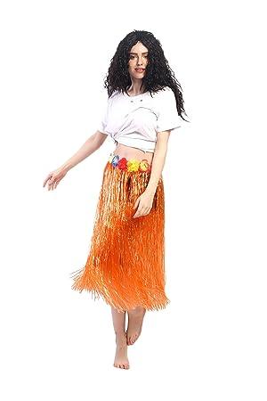 dressmeup Dress ME UP - CQ-004-orange Carnaval Hawái Falda de Paja ...