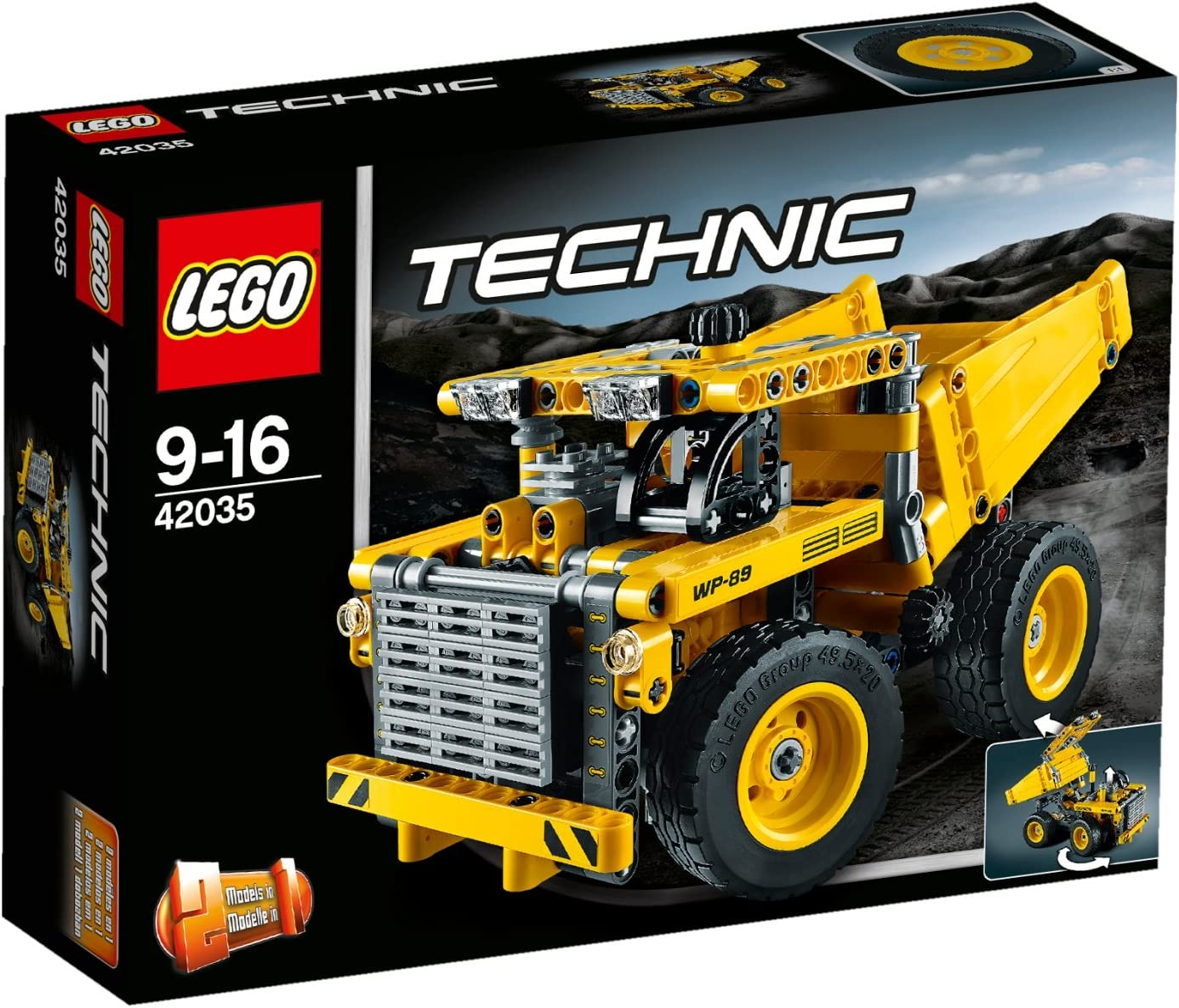 LEGO Technic Mining Truck Model 362 Pieces Kids Building Playset | 42035