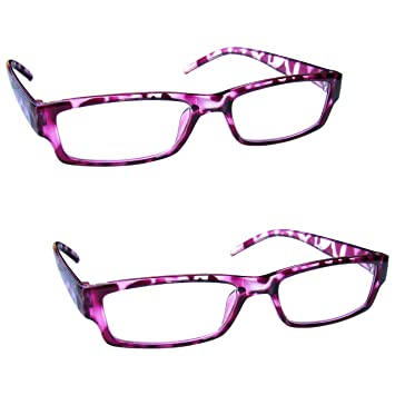 54c7c7121f The Reading Glasses Company Pink Tortoiseshell Lightweight Comfortable Readers  Value 2 Pack Mens Womens RR32-