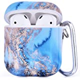 CAGOS Compatible with Airpods Case, 3 in 1 Cute Airpods Protective Hard Case Cover Portable & Shockproof Women Girls Men…