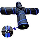 New Cat tunnel Design, Collapsible 4-way Cat Tunnel Toy with Crinkle (Medium and Large Sizes)