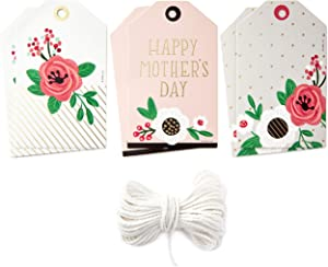 Hallmark Floral Gift Tags Set (6 Tags with String for Flower Bouquets, Plants and More) for Mother's Day, Birthdays, Weddings, Bridal Showers