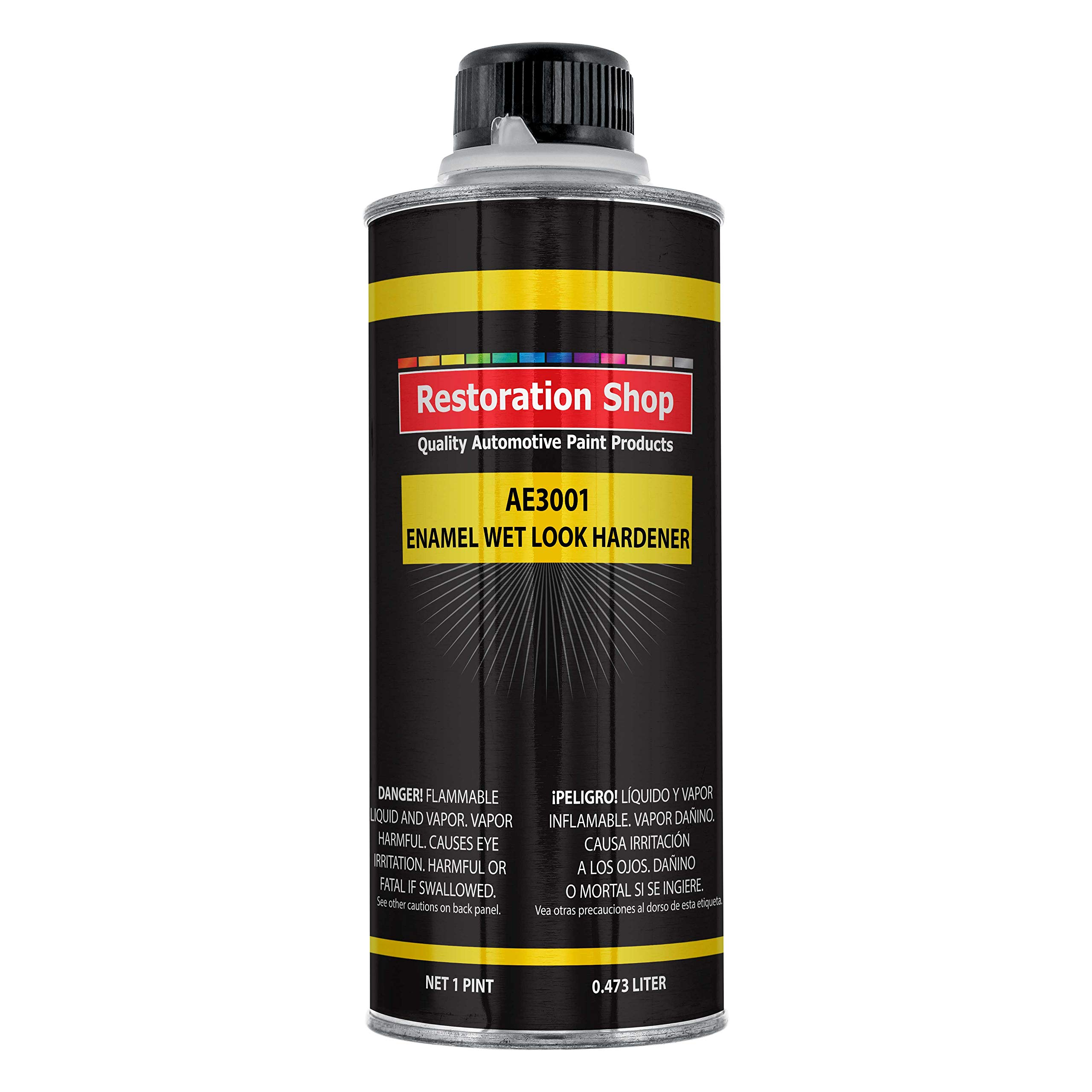 Restoration Shop AE3001 Acrylic Enamel Wet Look Hardener Pint Can AE Acrylic Enamel Paints and be Used Universally as Catalyst in Many Brands of Acrylic Enamel and Enamel Paints by Restoration Shop