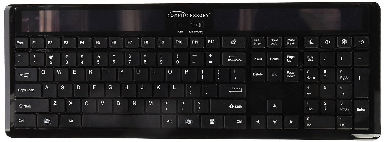 Amazon.com: Compucessory Wireless Solar Keyboard, 16-1/8