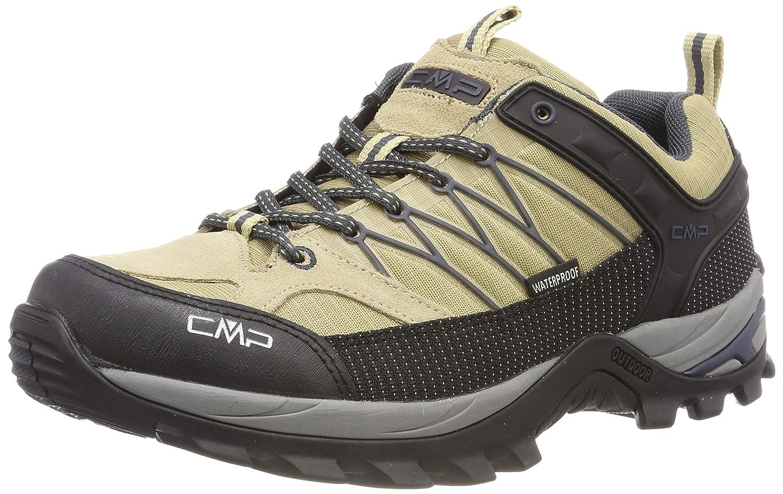 Beige (Sand-antracite 08pc) 47 EU CMP Rigel Faible, Chaussures de Randonnée Basses Homme