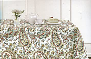 Cynthia Rowley New York Jacobean Floral Paisley Tablecloth, 60 By 120 Inch  Oblong