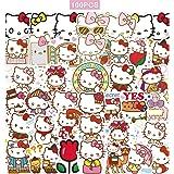 100pcs Hello Kitty Stickers Japanese Sanrio Kawaii Stickers Aesthetic Vinyl Stickers for Water Bottles Skateboard Laptop for Kids Adults Teens Waterproof Sticker Packs