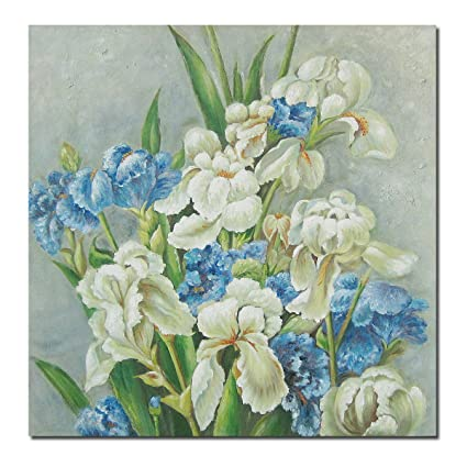 Artwork Oil Painting On Canvas Texture Flowers Paintings Modern Home