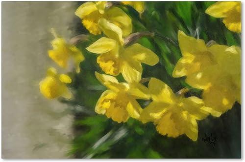 Daffodils Peeking Artwork