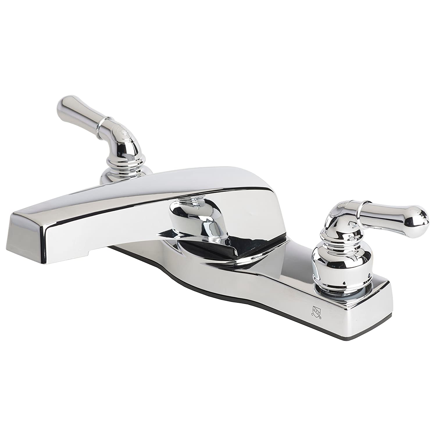 "Builders Shoppe 3341CP Mobile Home Two Handle Non-Metallic 8"" Deck Mount Garden Tub Filler Faucet Chrome Finish"