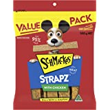 Schmackos Strapz Chicken Flavour Dog Treats 2kg Value Pack, (4 x 500g Bags)