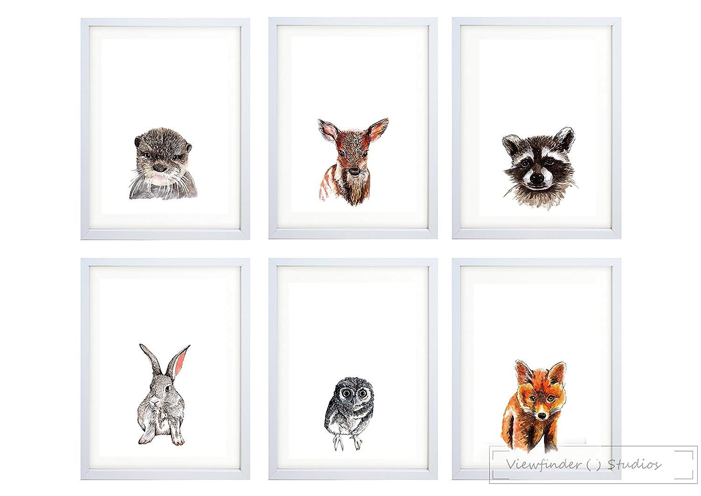 Woodland Animal Prints for Nursery Decor