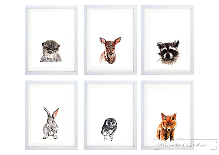 Animal Prints Part - 16: Woodland Animal Prints For Nursery Decor