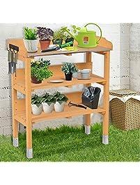 Amazon Com Potting Benches Amp Tables Patio Lawn Amp Garden