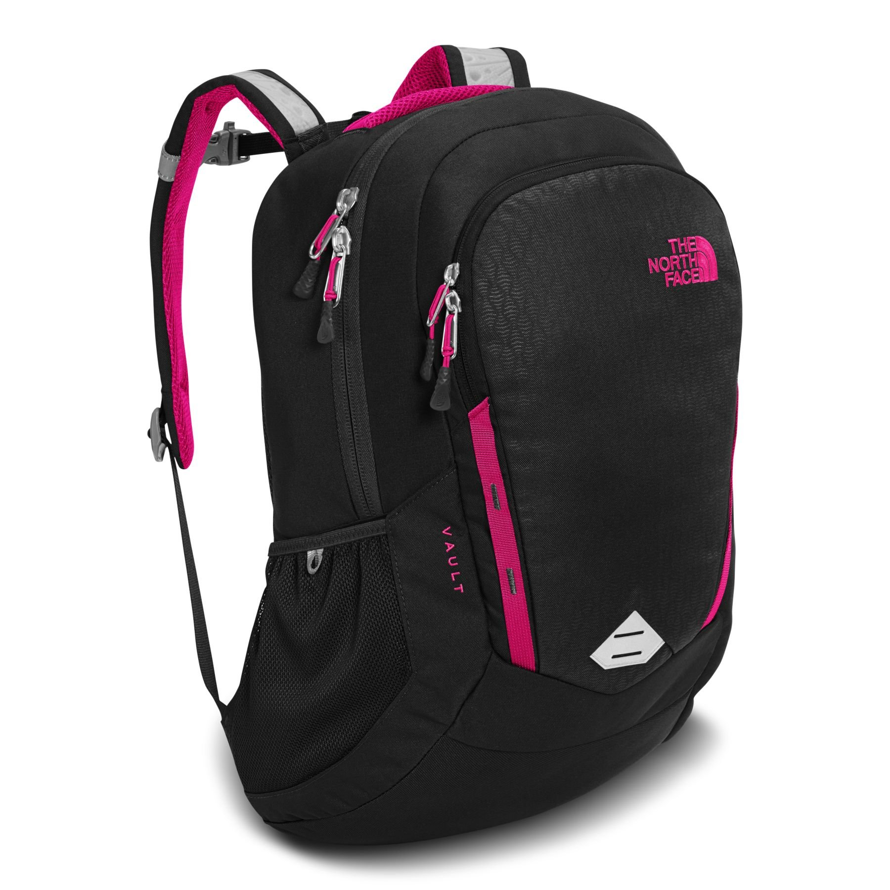 The North Face Women's Vault Backpack - TNF Black Emboss & Petticoat Pink - OS (Past Season)