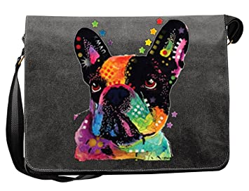 9555b1204da41 Französische Bulldogge Hunde Vintage Canvas Tasche für den Hundefreund -  Geschenkidee Weihnachten Geschenk Geburtstag Nikolaus Papa