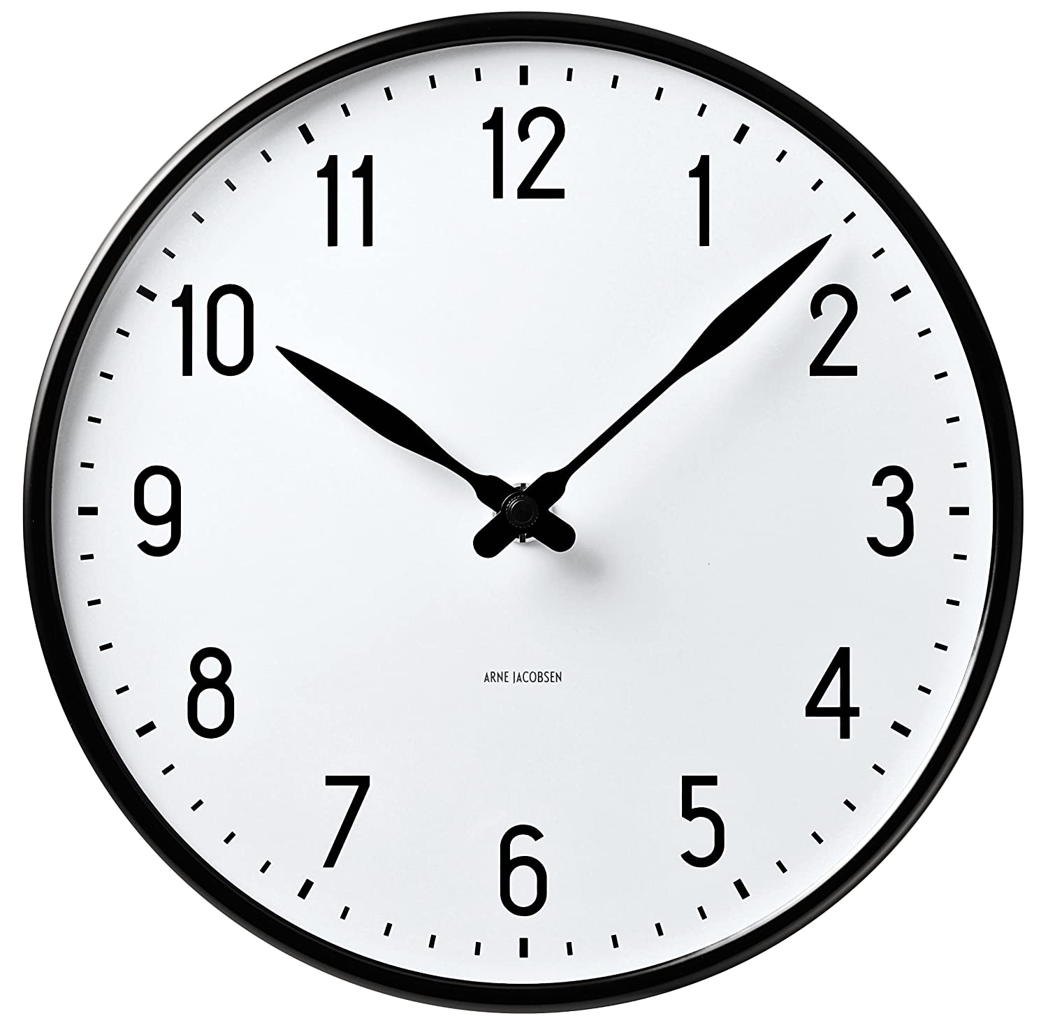 Amazon arne jacobsen station wall clock 290 43643 home kitchen amipublicfo Choice Image