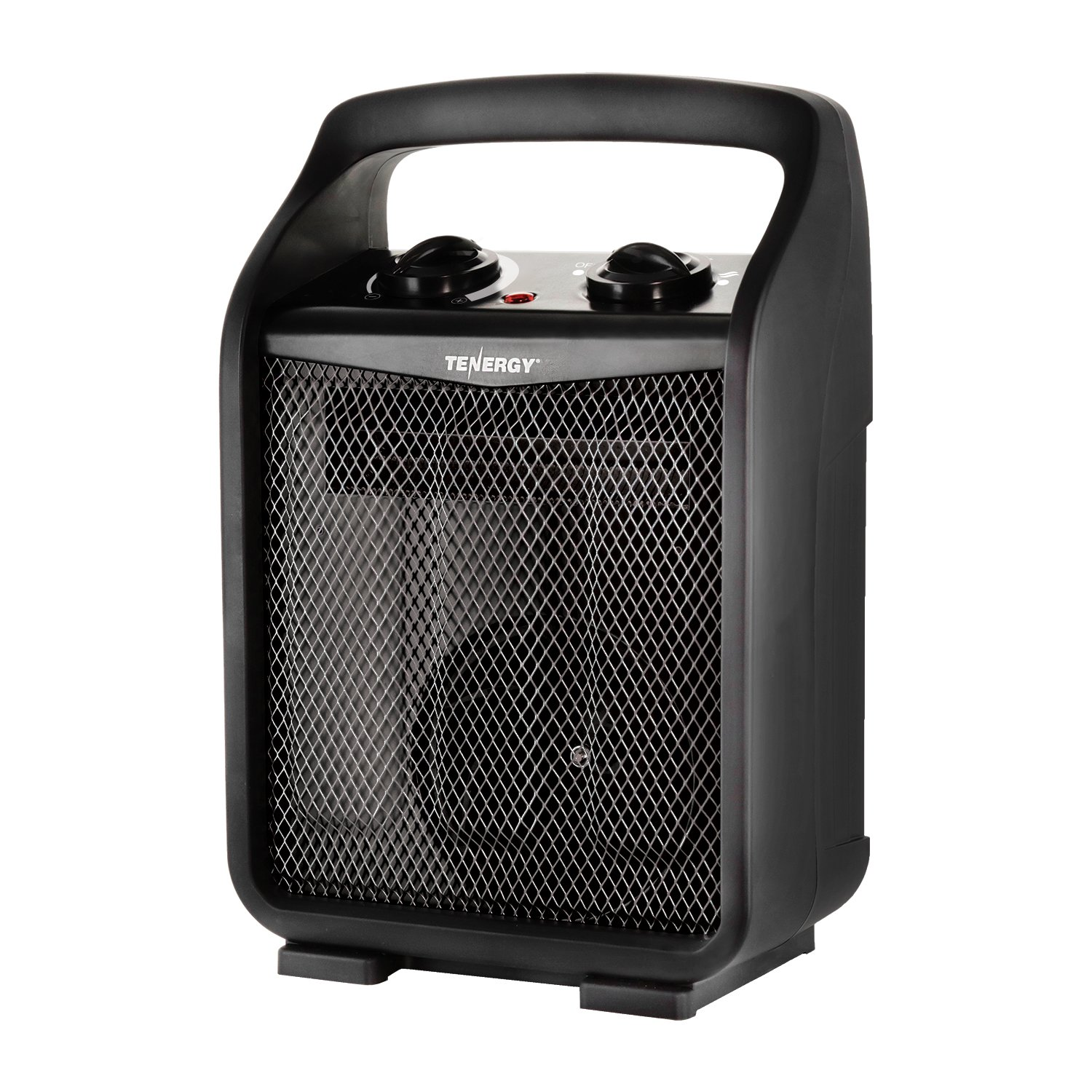 Tenergy 1500W/750W Portable Space Heaters with Adjustable Thermostat, Recirculation Air Electric Fan Heater with Auto Shut Off Switch, Tip-over & Overheat Protection
