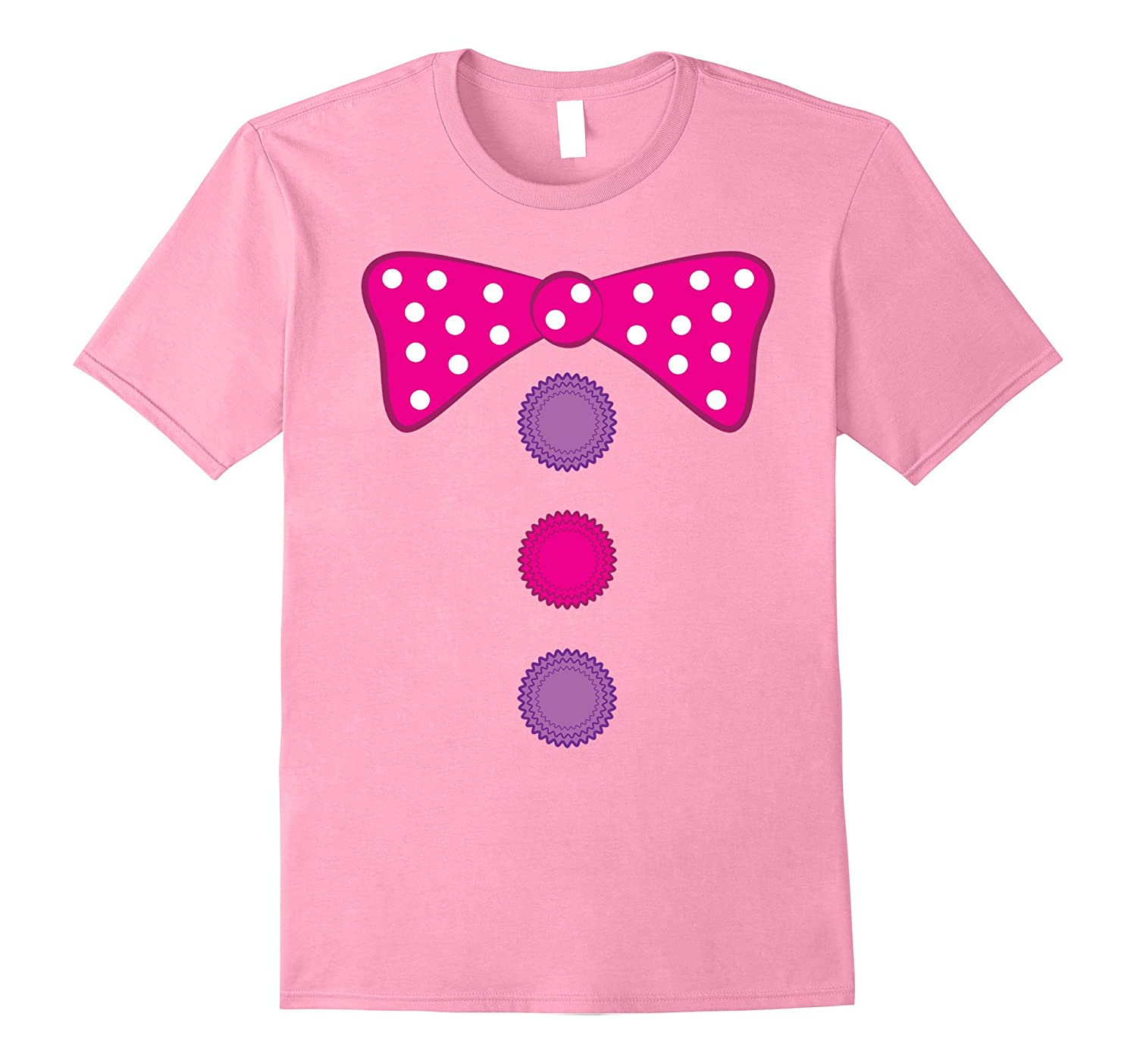 Girl Clown Bow Tie Halloween Costume Funny T-shirt-CL