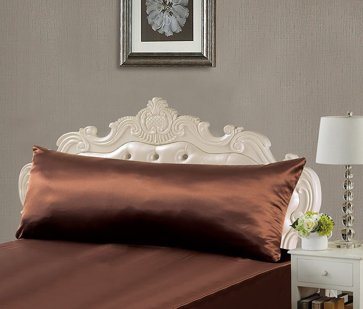 EliteHomeProducts EHP Super Soft & Silky Satin Body Pillowcase With Zipper (20