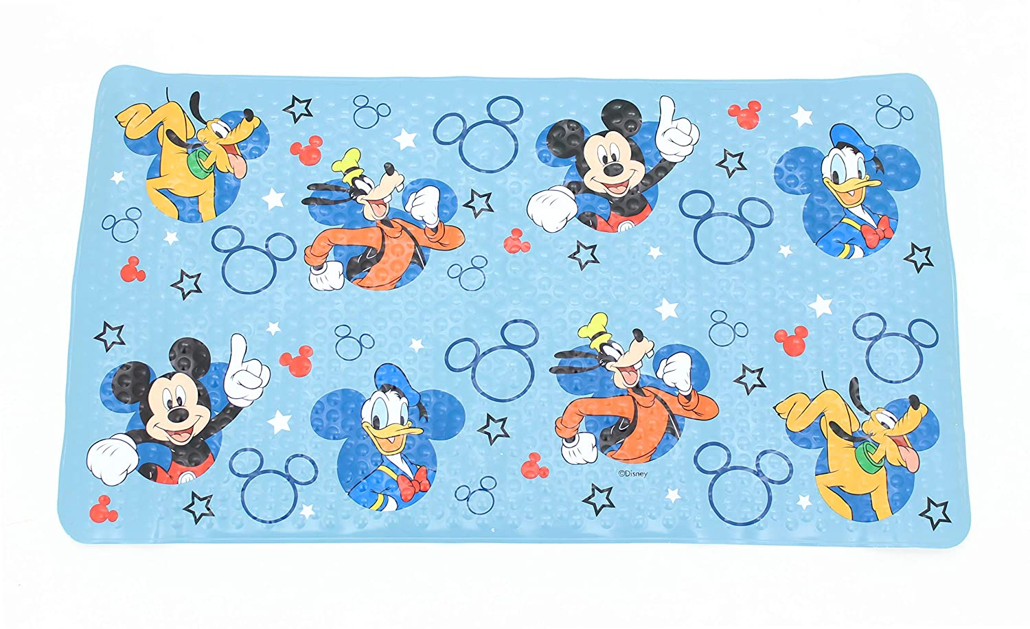 Disney Mickey Mouse Blue Bath Tub Mat - Kids Bath Mat Ginsey