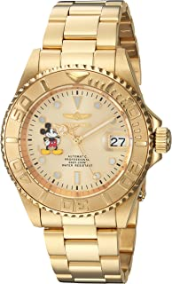 Invicta Mens Disney Limited Edition Automatic-self-Wind Watch with Stainless-Steel Strap