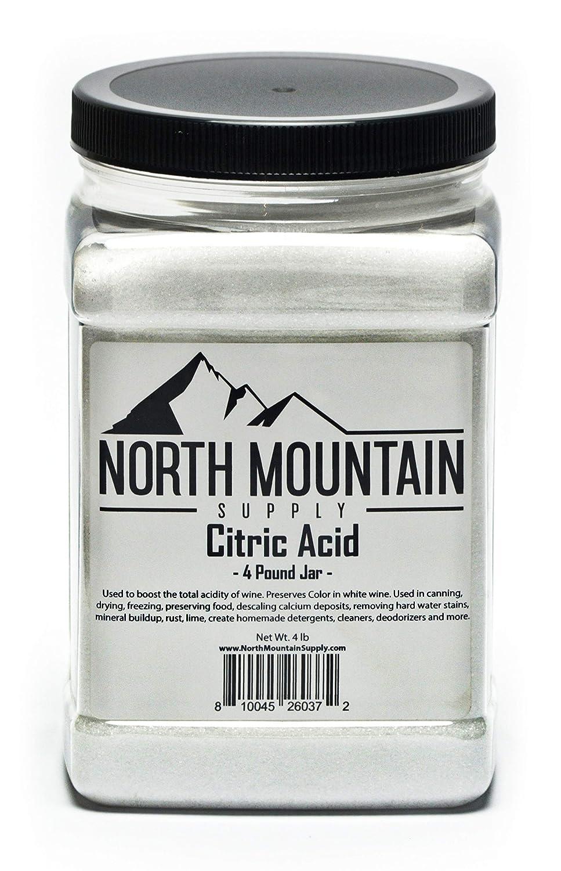 North Mountain Supply - CA-5lb Pure Food Grade Citric Acid - 4 Pound Jar