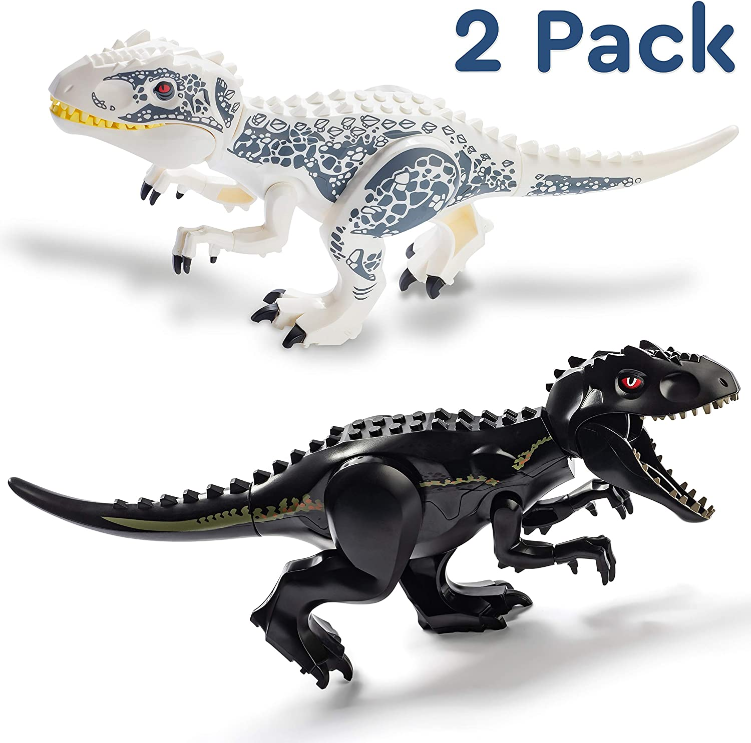 LEGO Lot of 2 Black Dinosaur Animal Tail Parts and Pieces