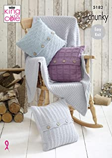 King Cole 5512 Cot Blanket,Prum Blanket And Cushion Knitting Pattern