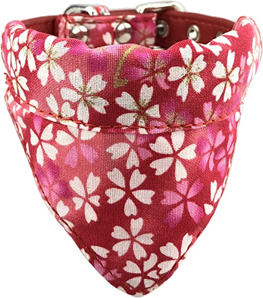 Newtensina Suave Pañuelo Collar de Perro Clásico Flor Sakura ...